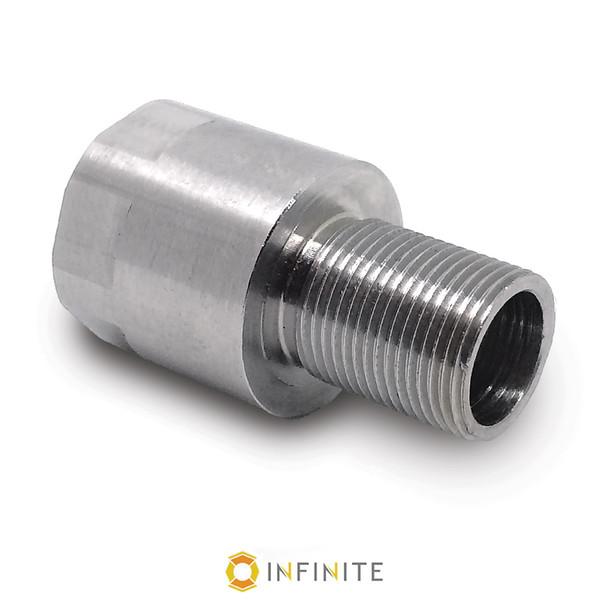 1/2-36 RH to 1/2-28 RH Thread Adapter - Stainless Steel
