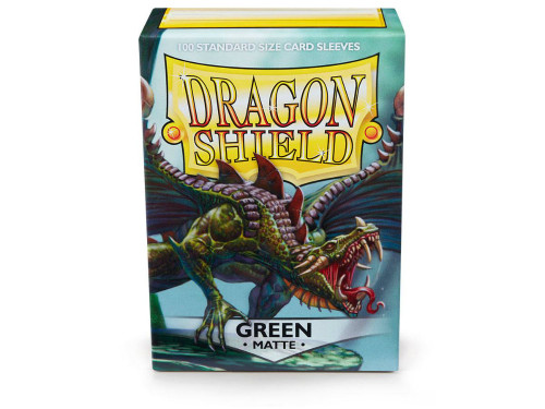 Dragon Shield Card Sleeves: Matte Green (100)