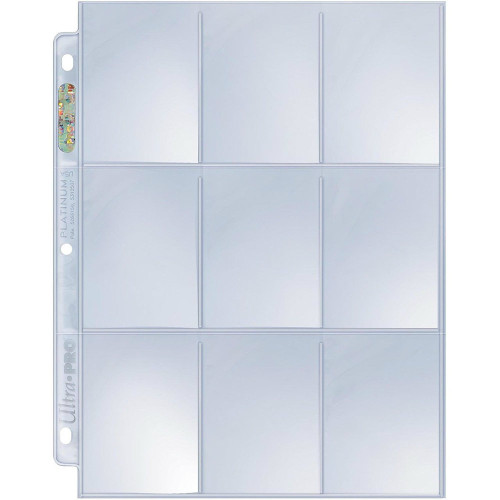 Ultra Pro: 9 Pocket Platinum Pages - Standard Size Cards (100 Count)