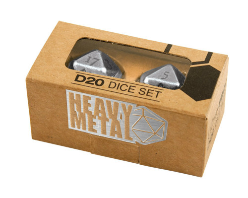 Ultra Pro: Heavy Metal D20 2 Dice Set - Chrome