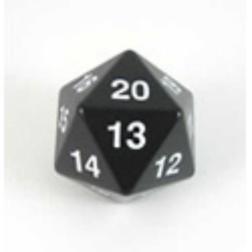 Koplow Games: Jumbo 55Mm D20 Die (Black/White)