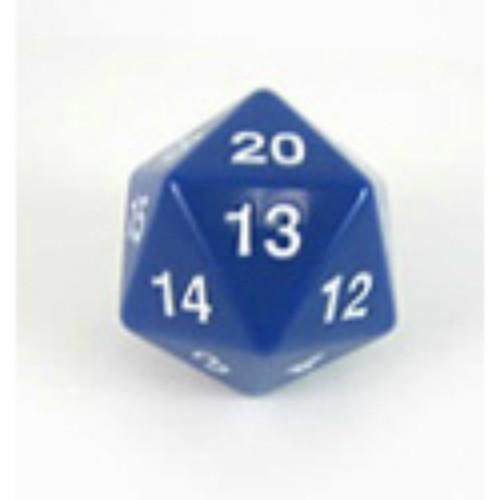 Koplow Games: Jumbo 55mm D20 Die (Blue/White)