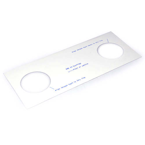 80 Series OME 2 Degree Caster Template
