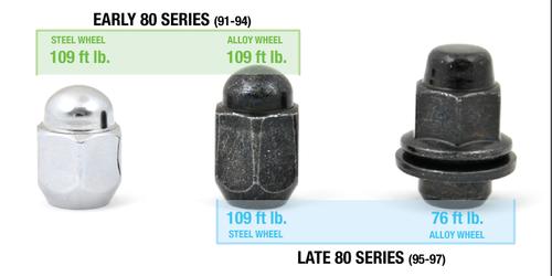 80 Series Lug Nut-alloy wheel (95-97) (LUG-3)