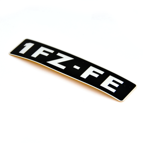 OEM 1FZ-FE Engine Name Plate