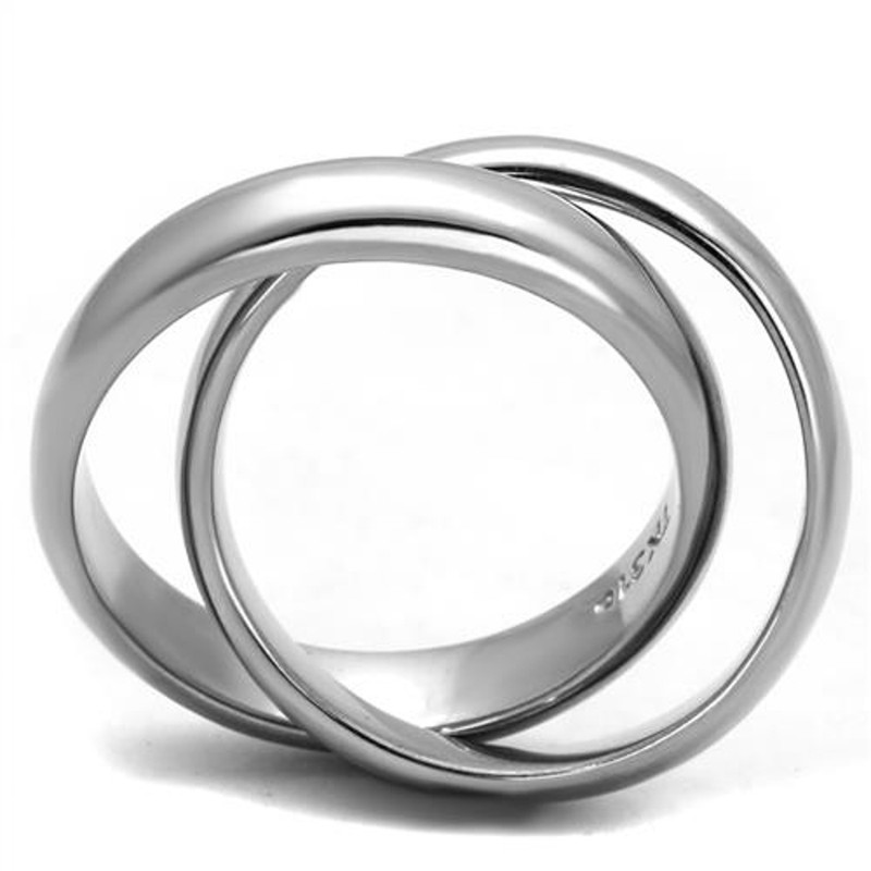 ARTK2498 High Polished Stainless Steel Intertwined Fashion Ring Bands Women's Size 5-10