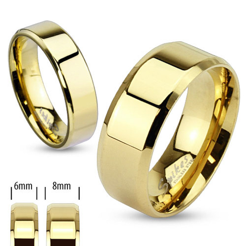 ST0W384-AR081 Stainless Steel Her & His 14K G.P. 3pc Wedding Engagement Ring & Men's Band Set