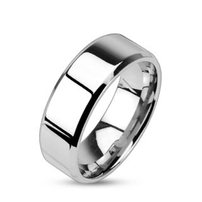 ST1W163-ARM0006 His & Her 3pc Stainless Steel 2.60 Ct Cz Bridal Ring Set & Men Beveled Edge Band