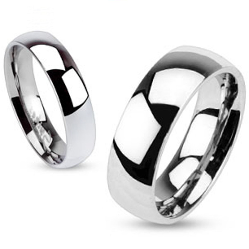 ST2477-AR001 His & Her 3pc Stainless Steel 1.39 Ct Cz Bridal Set & Men's Classic Wedding Band