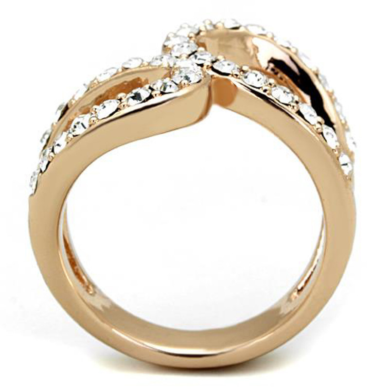 ARTK1695 Stainless Steel Rose Gold Plated 1.02 Ct Crystal Fashion Ring Women's Size 5-1 0