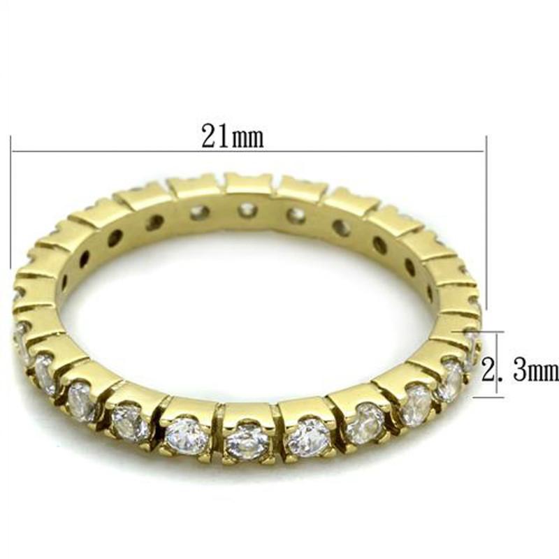 ARTK45202G Women's Round Cut 14k GP AAA CZ Eternity Anniversary Wedding Ring Band Size 5-10