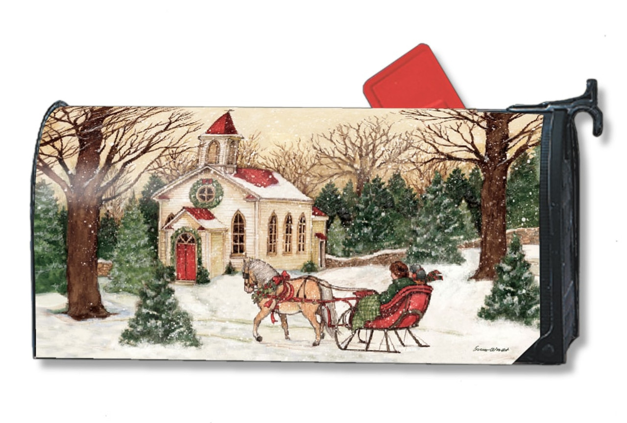 religious christmas magnetic mailbox cover
