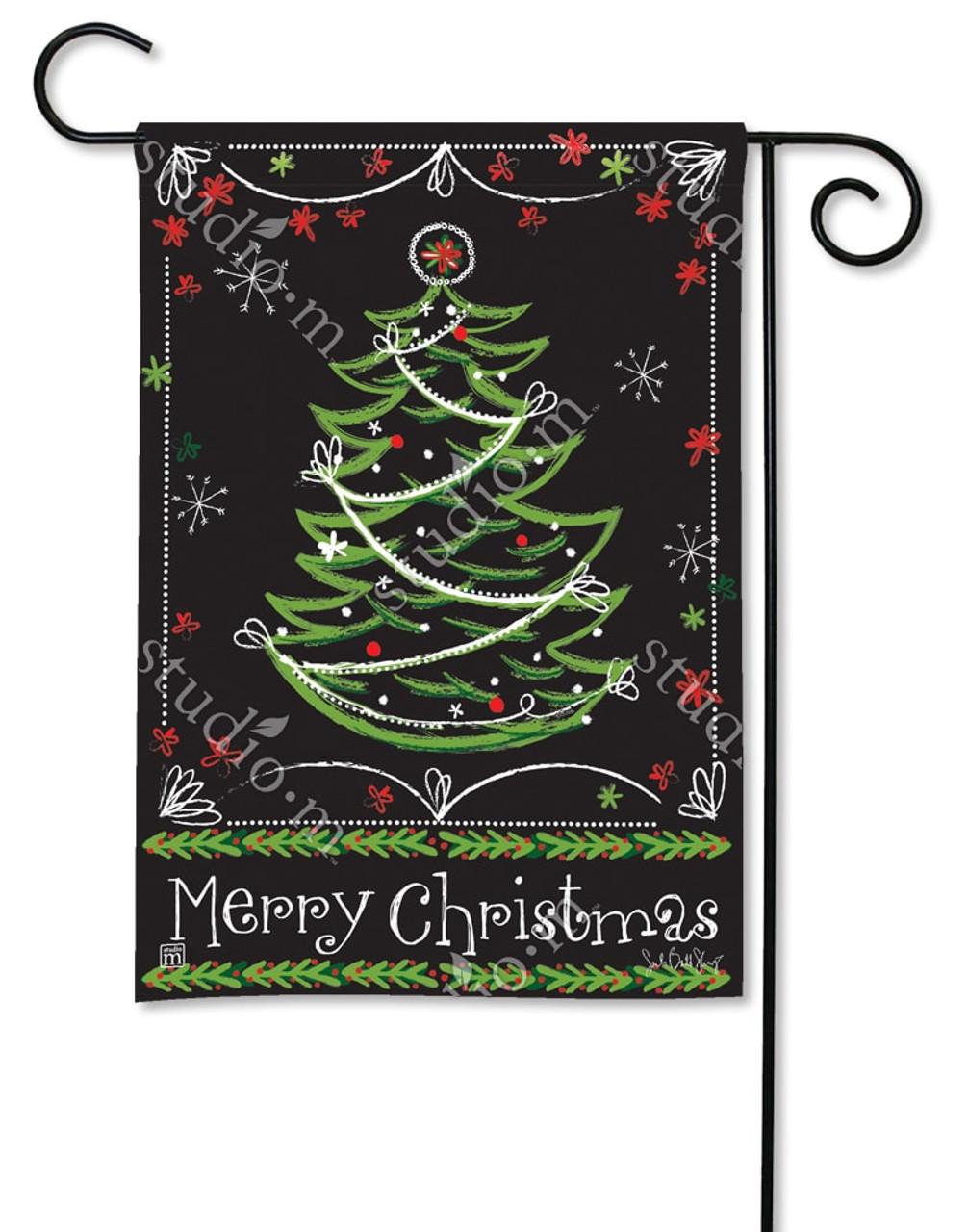 christmas garden flags. Blackboard Christmas Garden Flag - 12.5\ Flags On A Stick