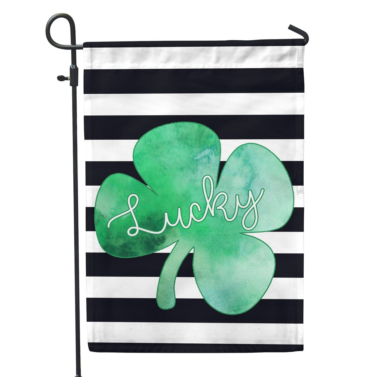 Lucky Watercolor St. Patrick\'s Day Decorative Garden Flag