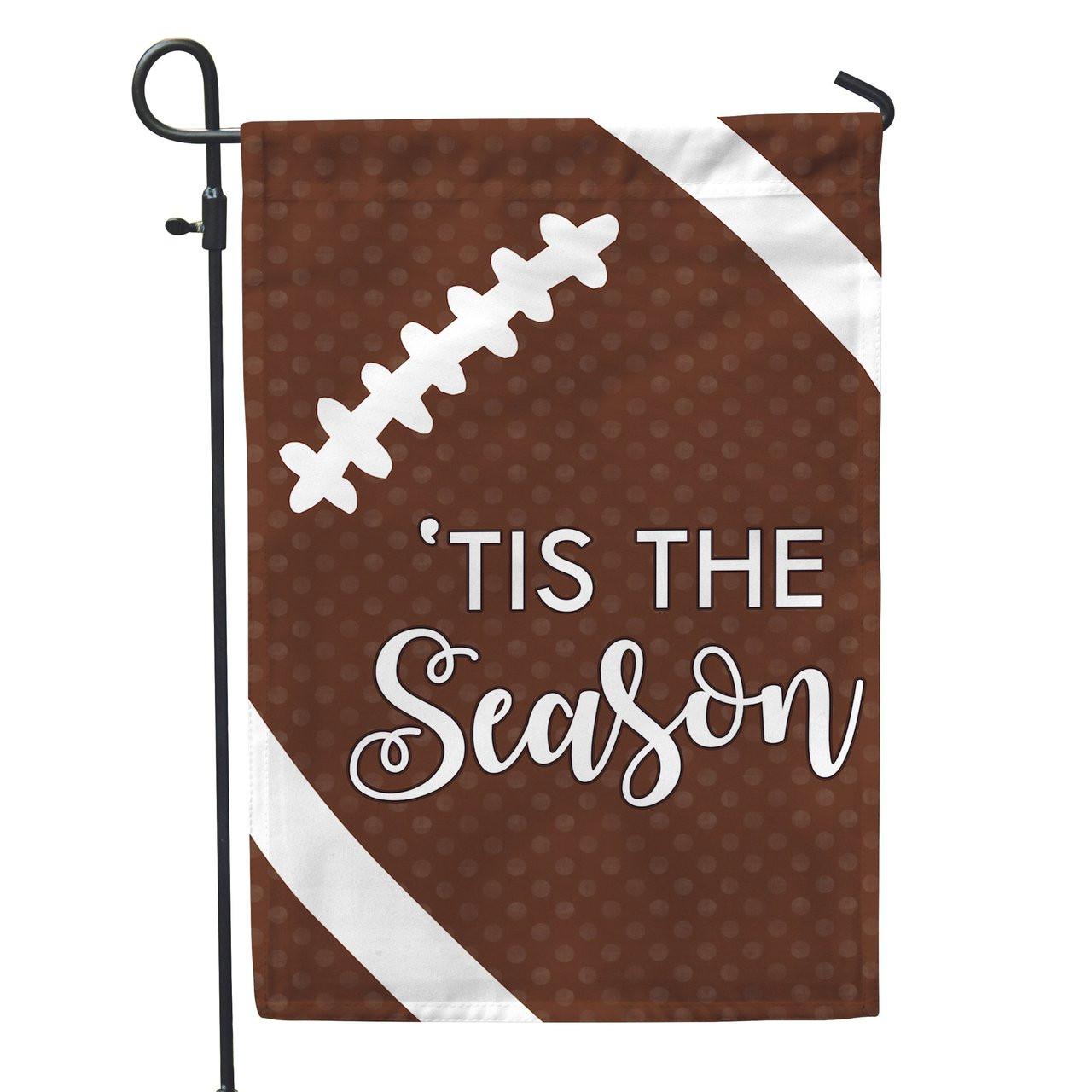 Football \'Tis the Season Super Bowl Party Garden Flag