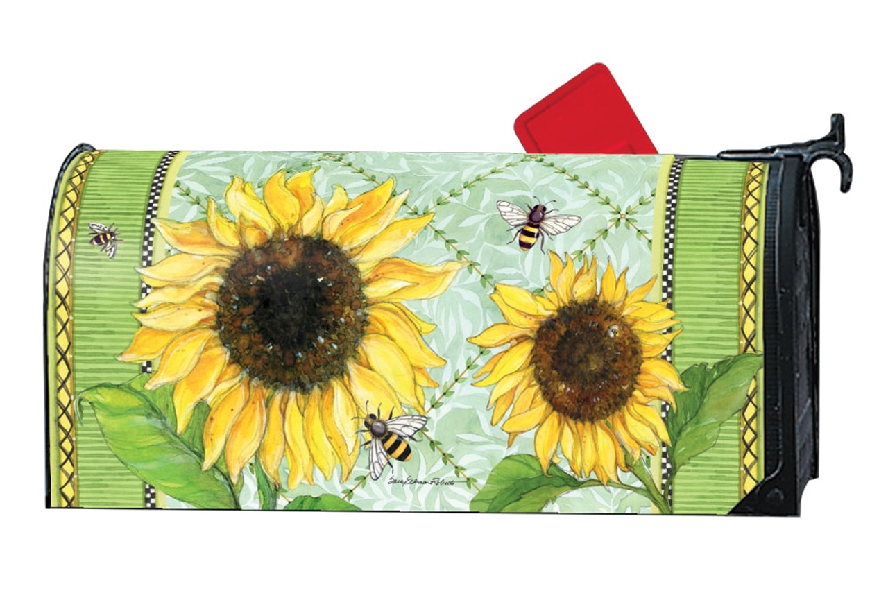 lovely Magnetic Mailbox Covers Part - 10: Single Sunflower LARGE Magnetic Mailbox Cover