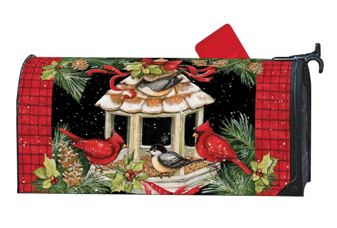 christmas dinner magnetic mailbox cover