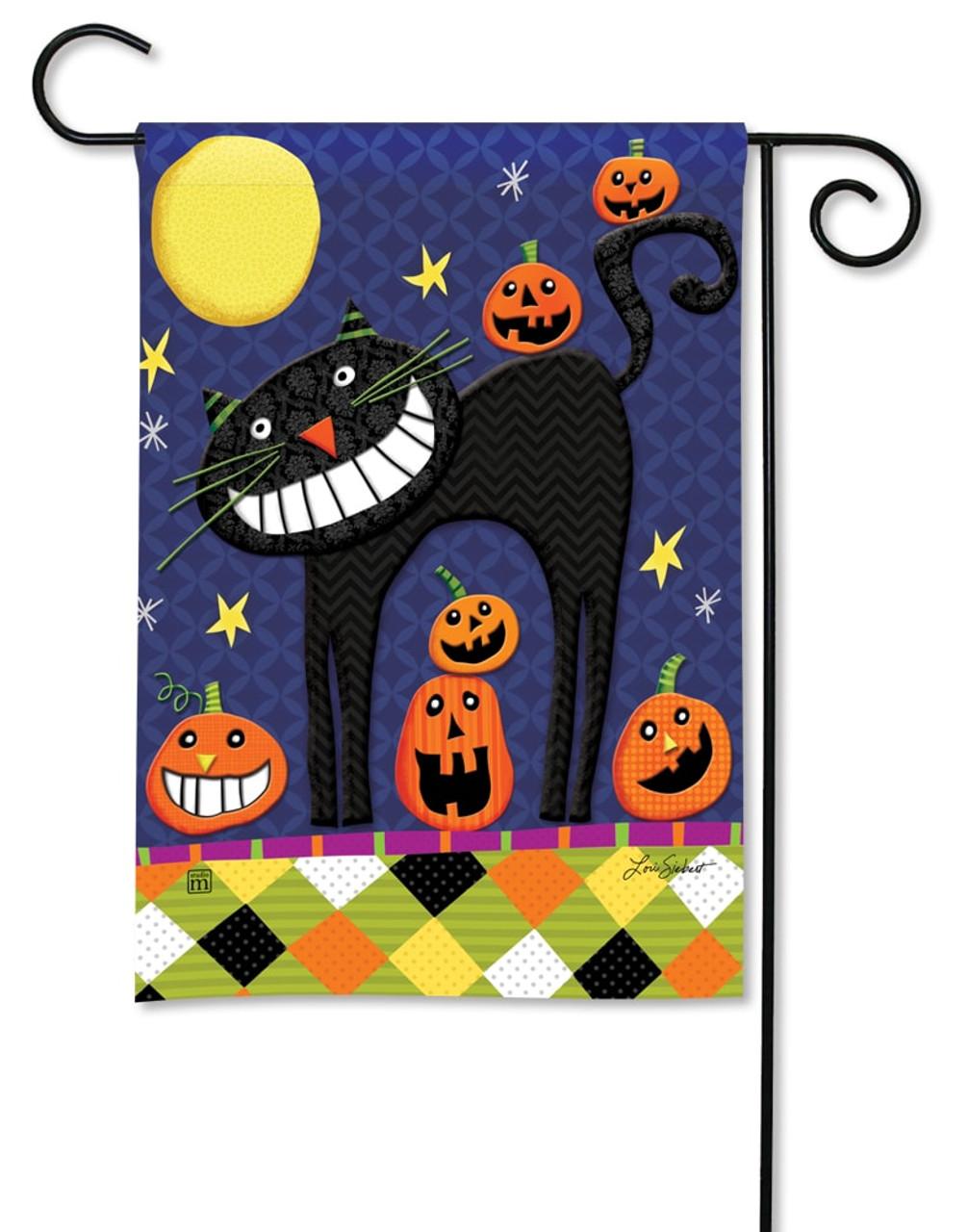 Halloween Smiles Garden Flag   BreezeArt