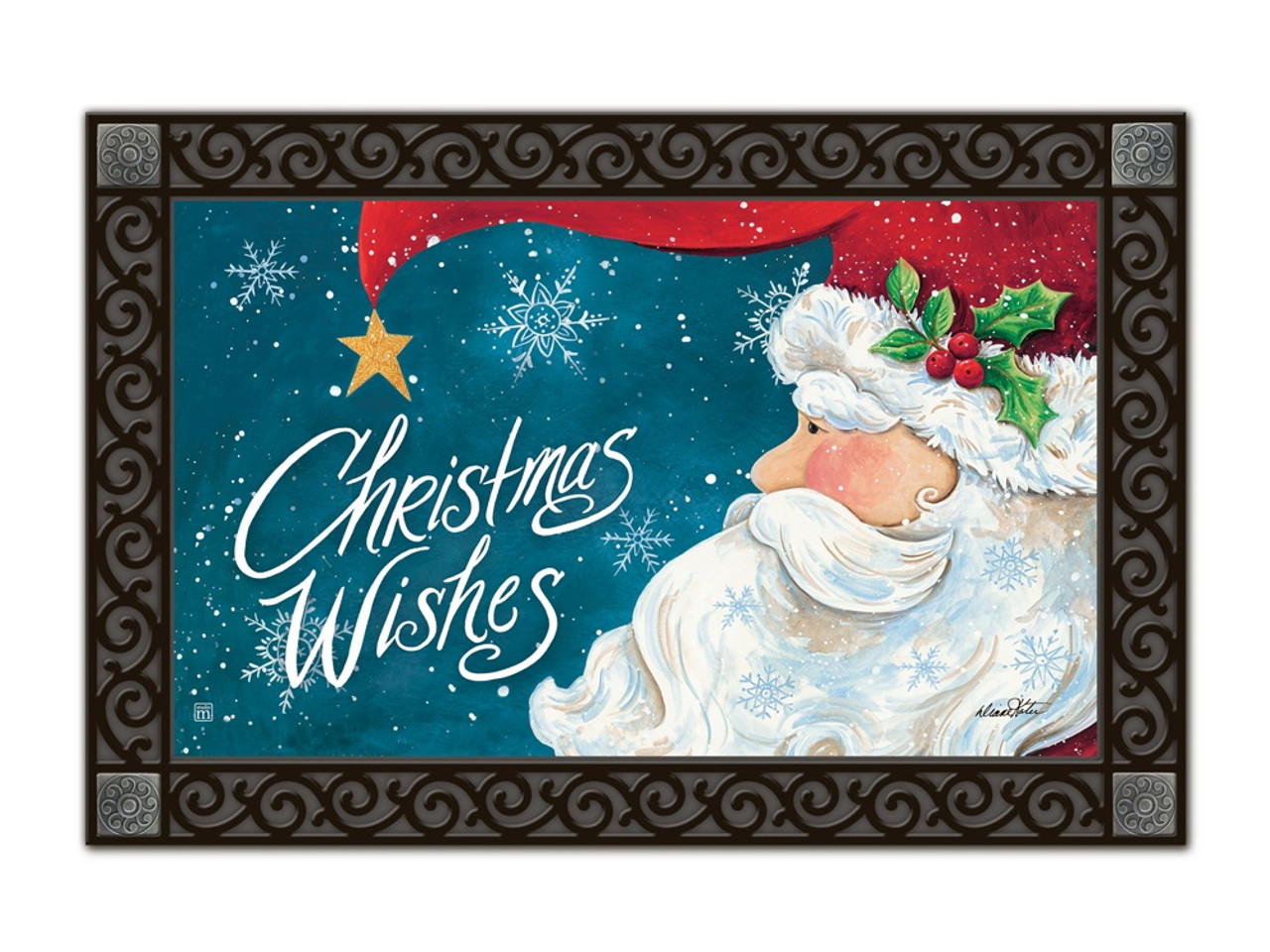 Santa Wishes MatMates Doormat - Tray Sold Separately  sc 1 st  Flags On A Stick & Santa Wishes MatMates Door Mat - Welcome Outdoor Mats