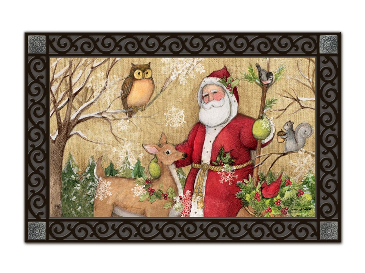 woodland santa matmates doormat tray sold separately