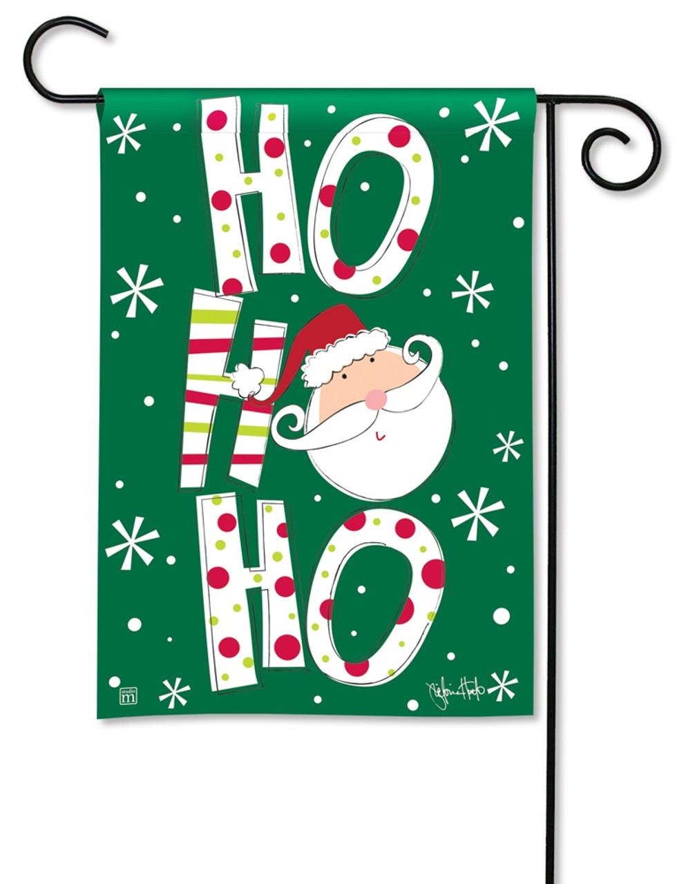 BreezeArt Santa Says Decorative Christmas Garden Flag