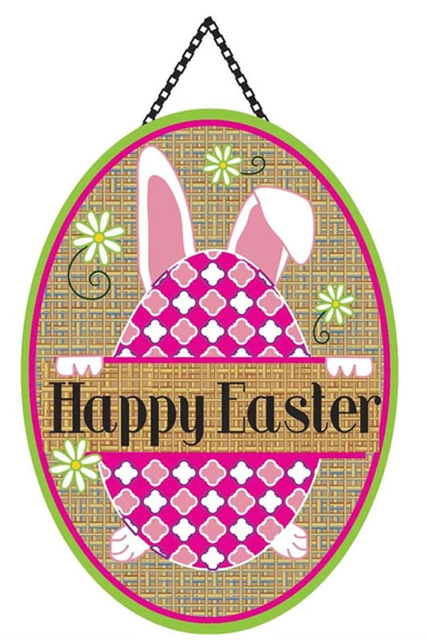 Happy Easter Burlap Door Decor by Magnolia Gardens  sc 1 st  Flags on a Stick & Happy Easter Burlap Door Decor - Magnolia Garden