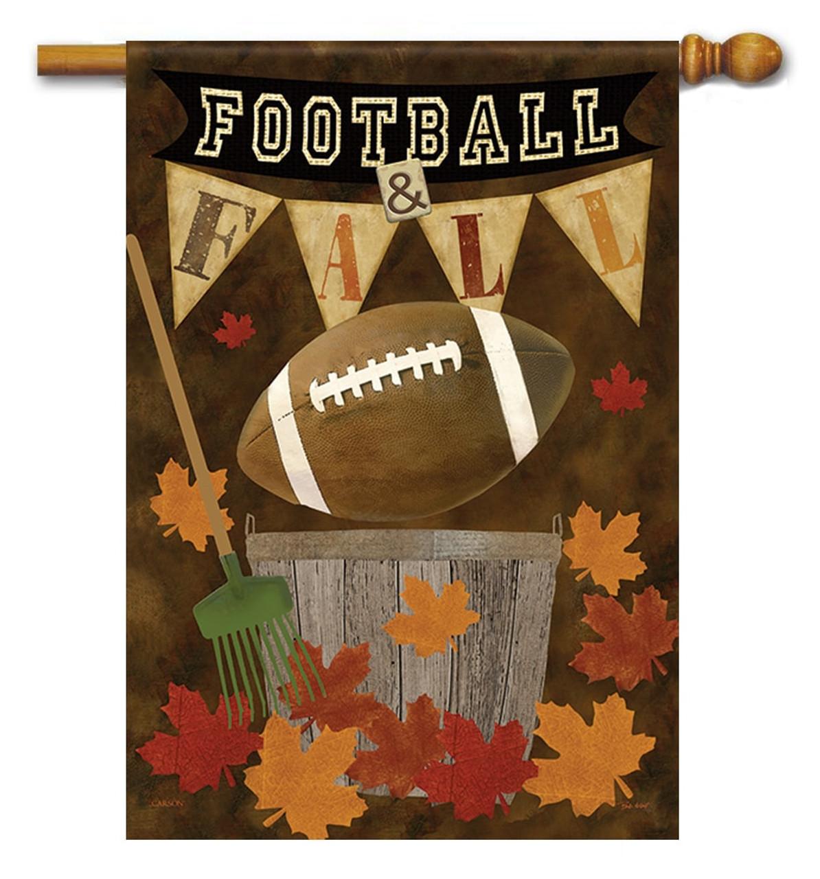 Football Fall House Flag - Flag Trends