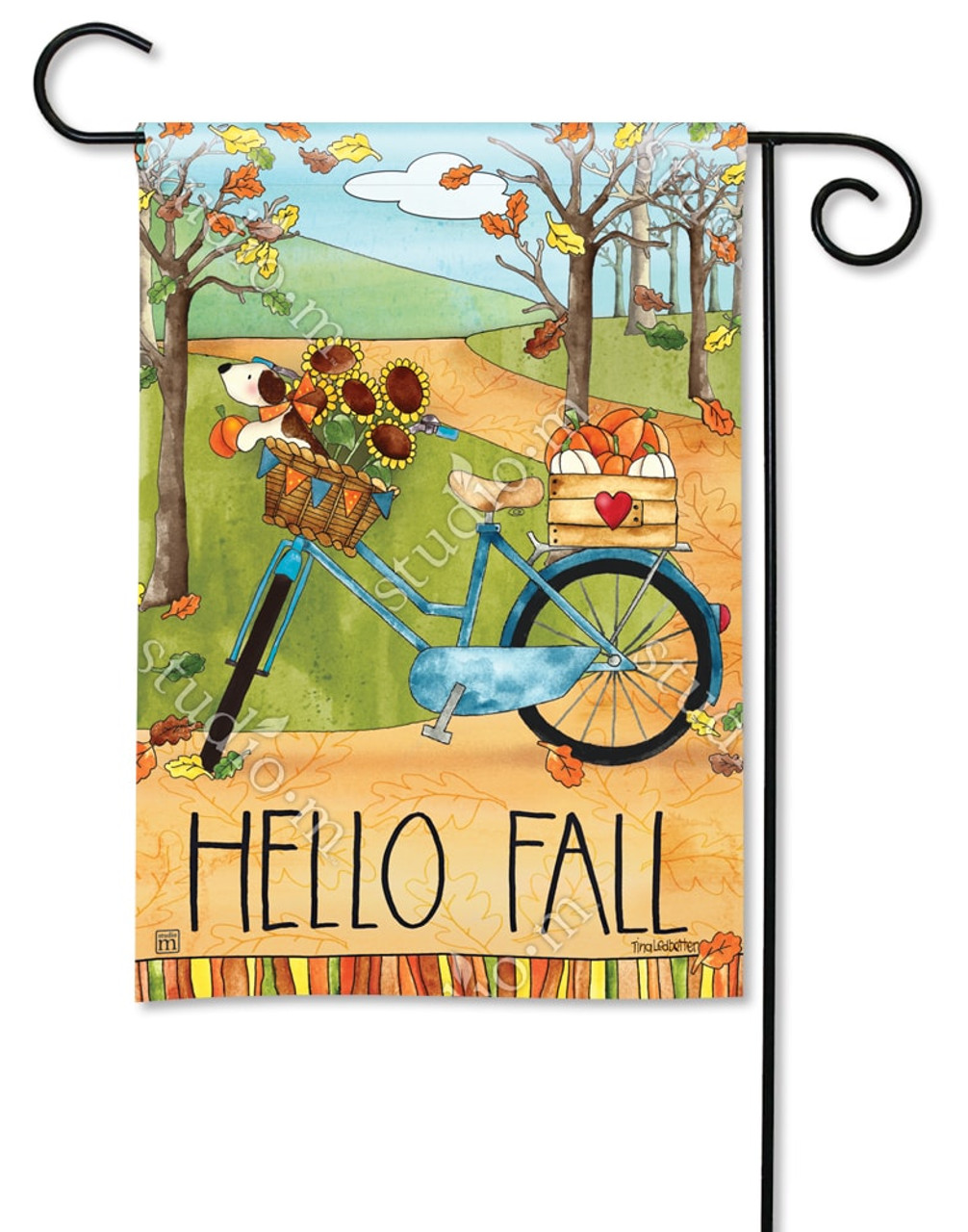 fall garden flags. Autumn Bike Ride Garden Flag - Fall BreezeArt Flags