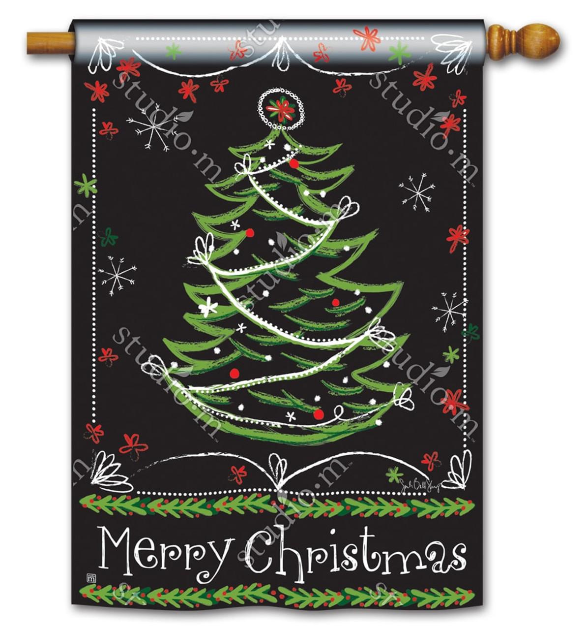 blackboard christmas house flag 28 x 40 breezeart