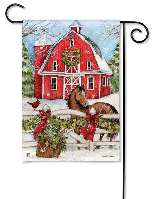 christmas garden flags. Christmas On The Farm Garden Flag - 12.5\ Flags S
