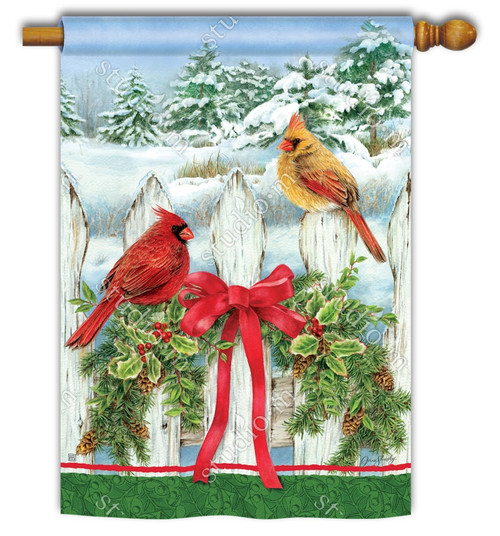 Winter House Flags – Decorative Outdoor Yard Flags for Your Home
