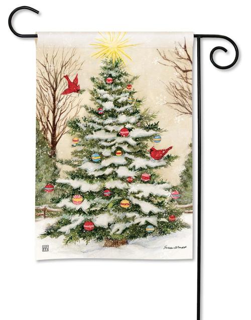 decorate the tree garden flag 125 x 18 breezeart breezeart flags - Decorative Christmas Flags