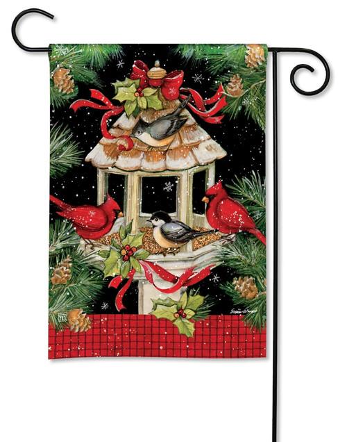 christmas dinner garden flag 125 x 18 breezeart - Christmas Elephant Outdoor Decoration