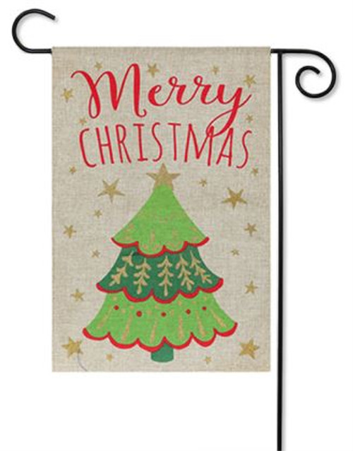 merry christmas burlap garden flag 125 x 18 evergreen 2 sided evergreen flags