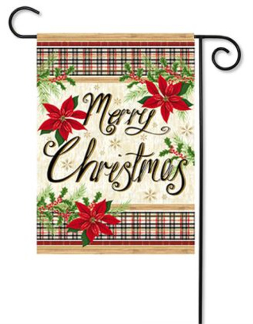 merry christmas garden flag 125 x 18 evergreen 2 sided message evergreen flags
