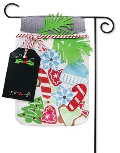 christmas cookie jar applique garden flag 125 x 18 evergreen 2 evergreen flags