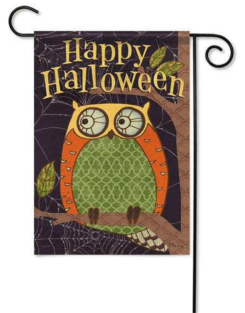 Outdoor Garden Flag Halloween Owl