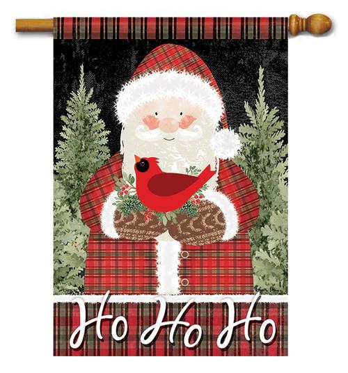 plaid santa house flag 28 x 40 flag trends 2 sided message
