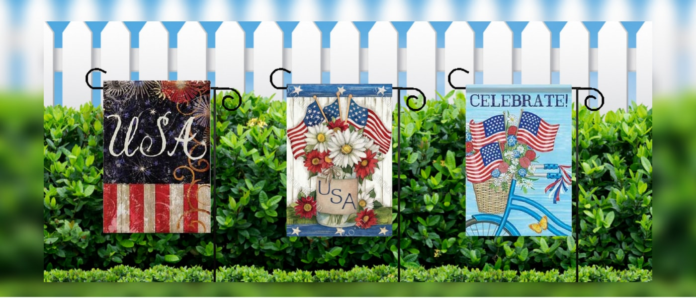 Garden Flags and Decorative House Flags for Outdoor Yard Decor