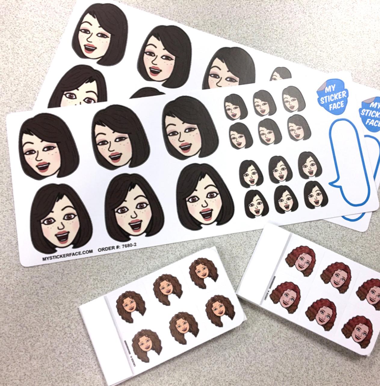 Bitmoji Sticker Faces