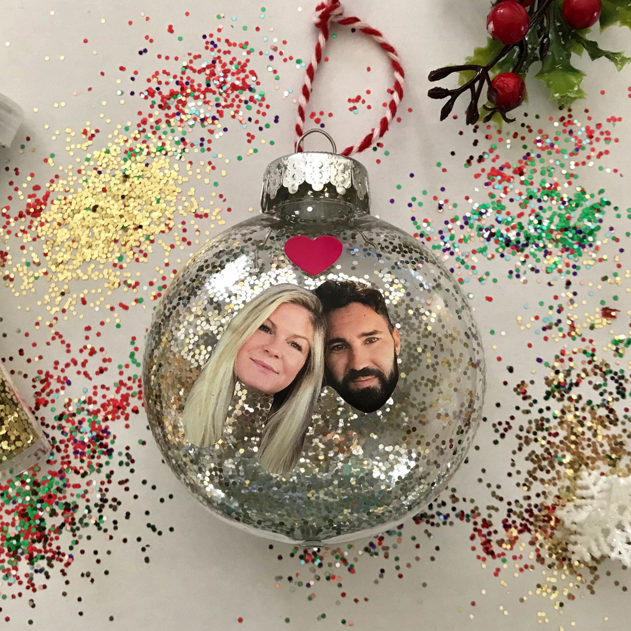 DIY Glittery Christmas Tree Ornaments