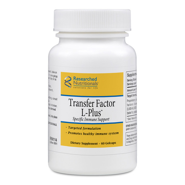 Researched Nutritionals, Transfer Factor L-Plus (formerly LymPlus)