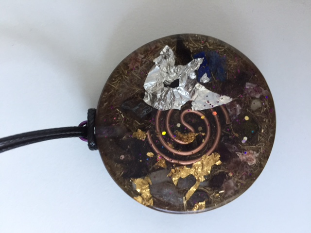 Orgone Pendant, Seed of Life inside Flower of Life for Healers (Big Size)