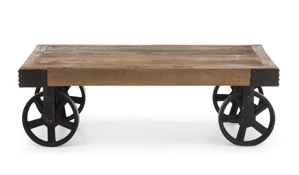 Barbary Coast Cart Table Distressed Natural