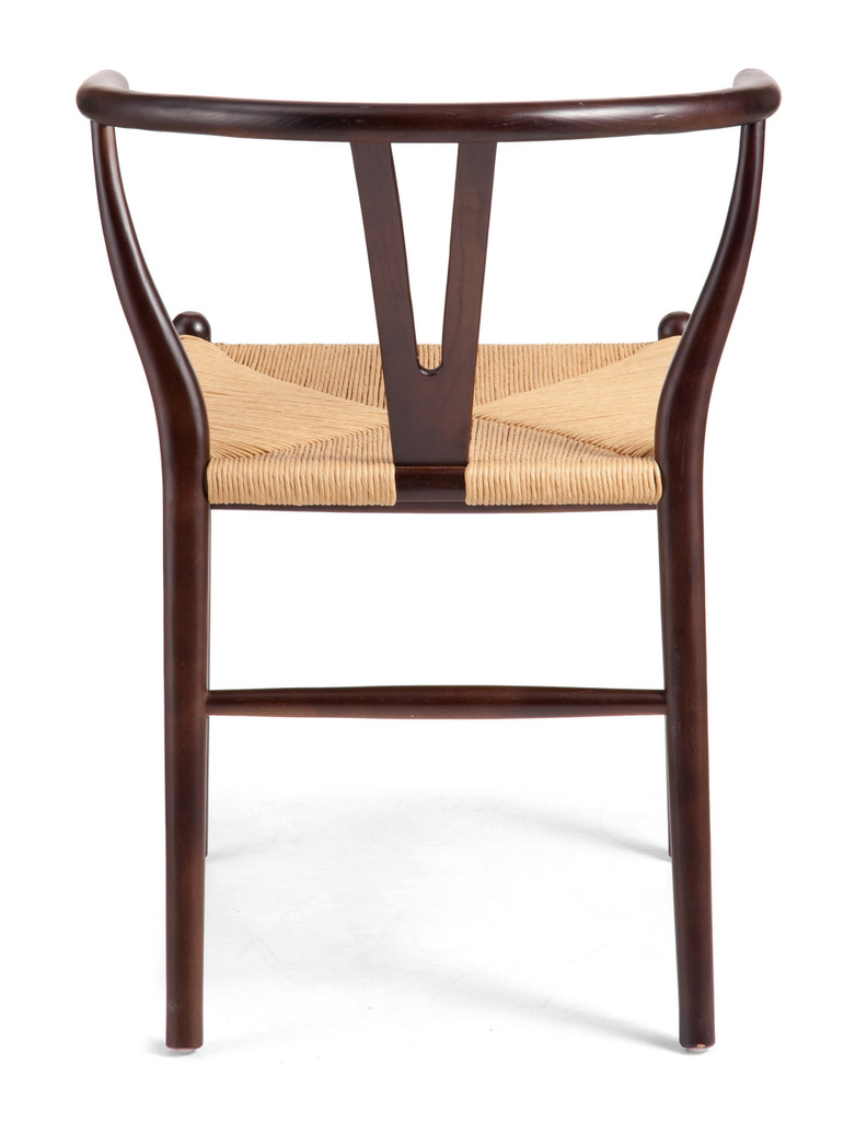 Polk Chair Dark Walnut & Natural Wicker