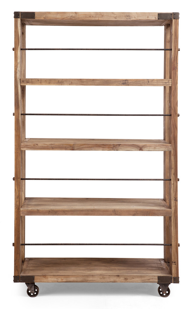 Newcomb Wide 4 Level Shelf Distressed Natural