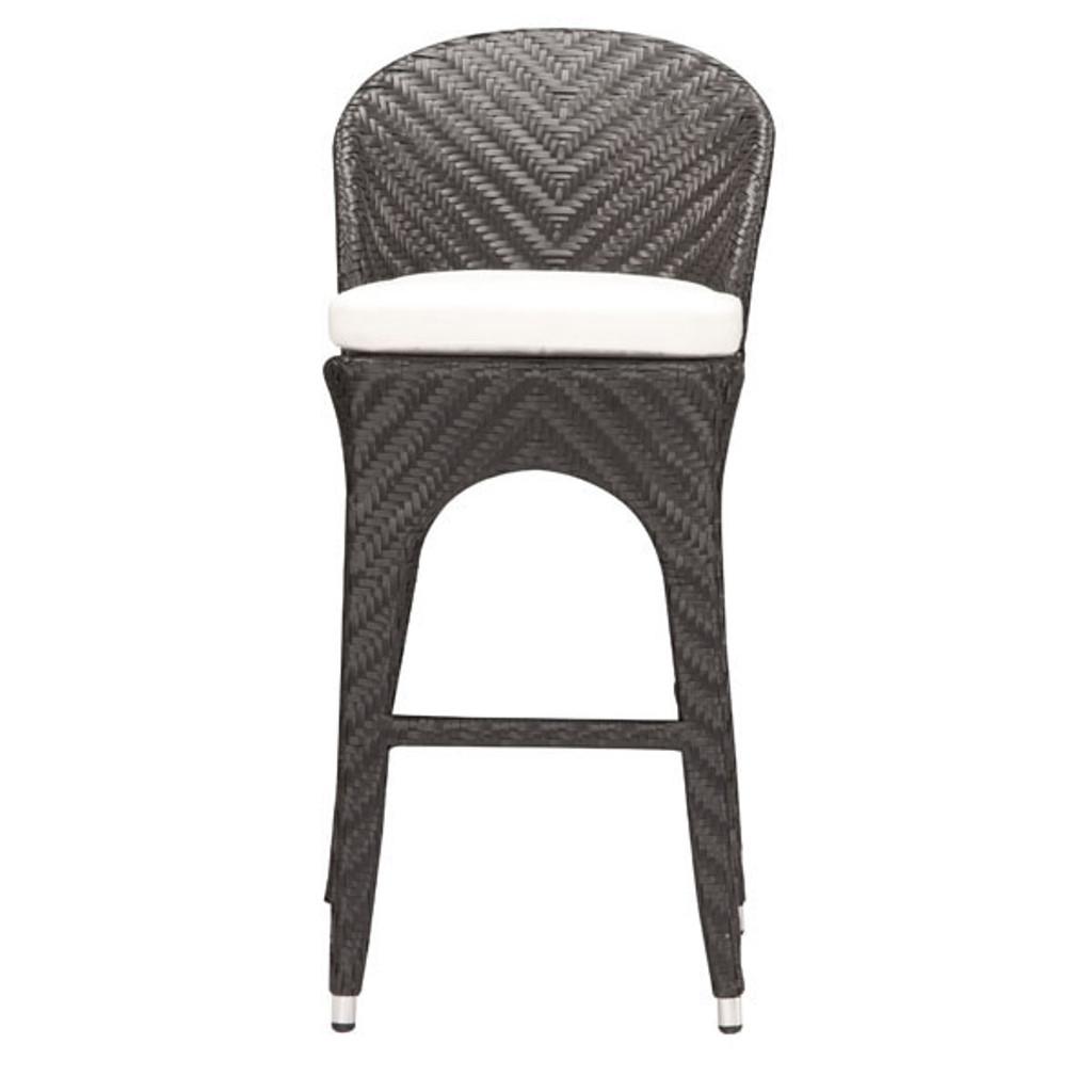701220 Corona Bar Chair Espresso 811938018414 Wicker Modern Espresso Bar Chair by  Zuo Modern Kassa Mall Houston, Texas Best Design Furniture Store Serving Houston, The Woodlands, Katy, Sugar Land, Humble, Spring Branch and Conroe