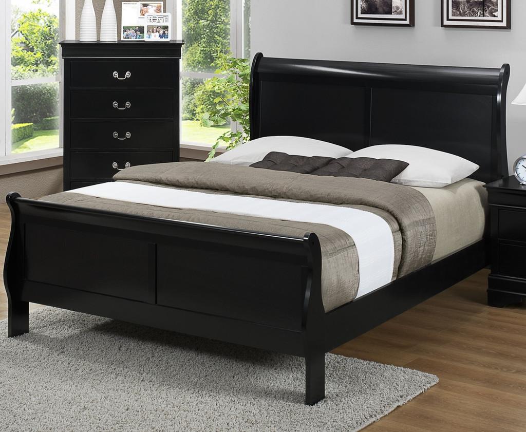 Louis Philip -  Black Bed