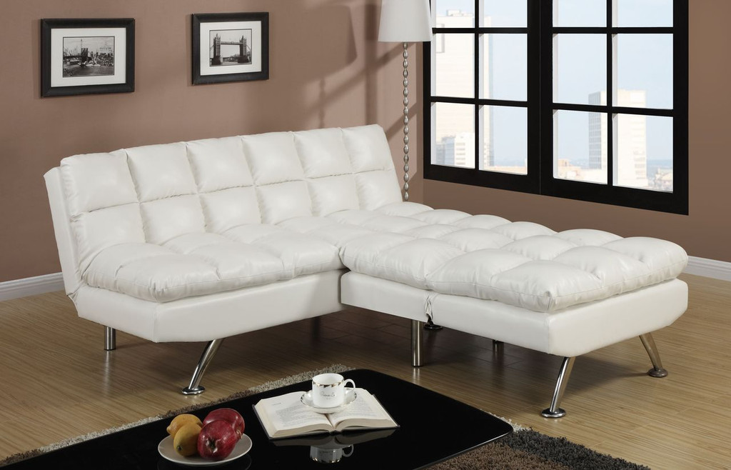 CONTEMPORARY ADJUSTABLE SOFA AND CHAIR LEATHER/CREAM