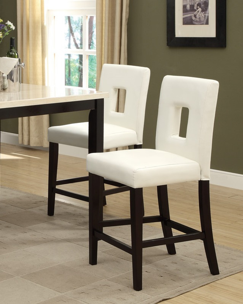 5PCS CREAM STONE SLATE TABLE TOP COUNTER HEIGHT DINING SET